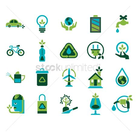 Bicycles : Eco friendly icons