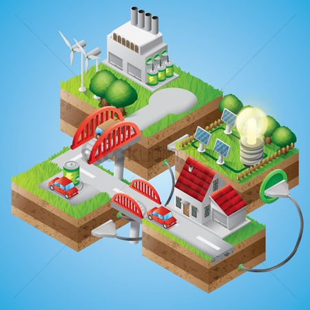 Electric cars : Ecology concept