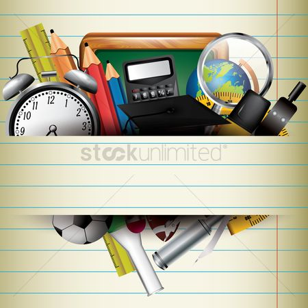 Researching : Education concept with paper background