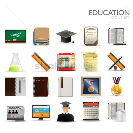 Blackboard : Education icons set