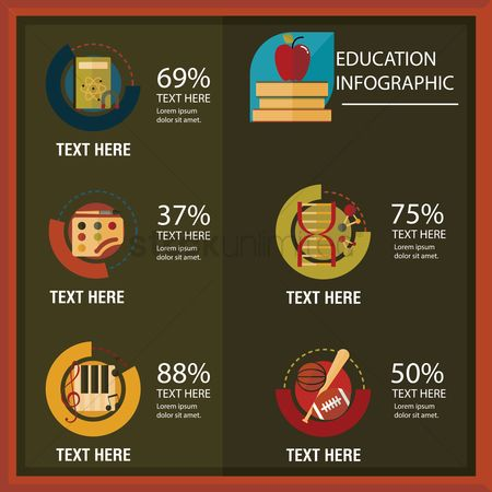 Palette : Education infographic
