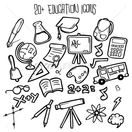 Blackboard : Educational icon set