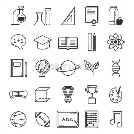 Blackboard : Educational icons