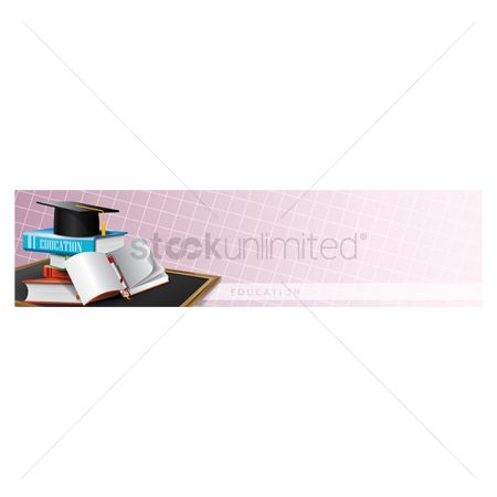 Educational banner : Educational supplies on a banner