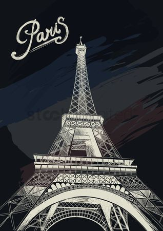 Tourist attractions : Eiffel tower poster