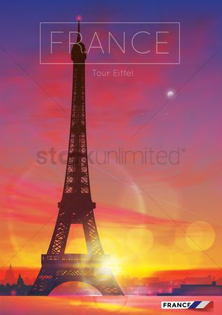 Architectures : Eiffel tower poster