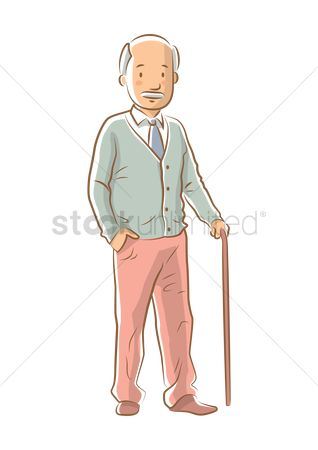 Posing : Elderly man