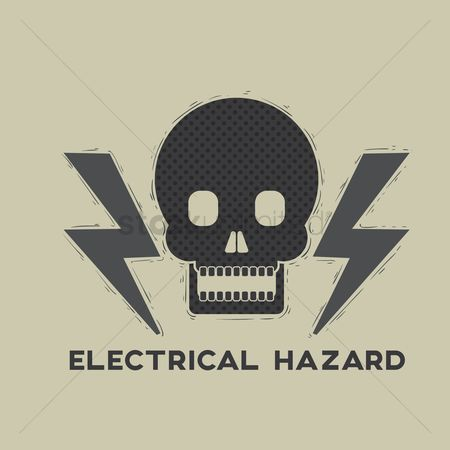 Hazard : Electrical hazard and toxic sign