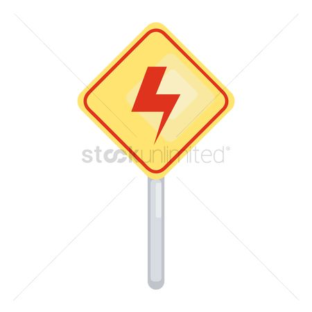 Beware : Electrical hazard sign board
