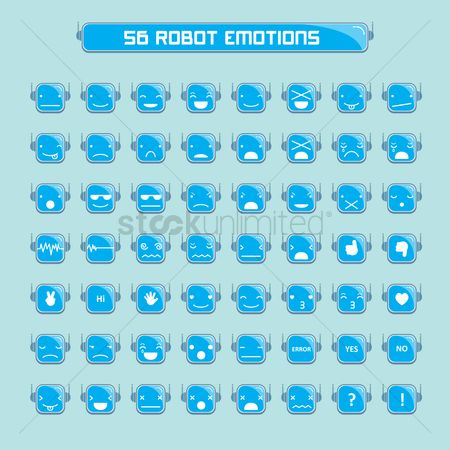 Contemplate : Emoticons of robot