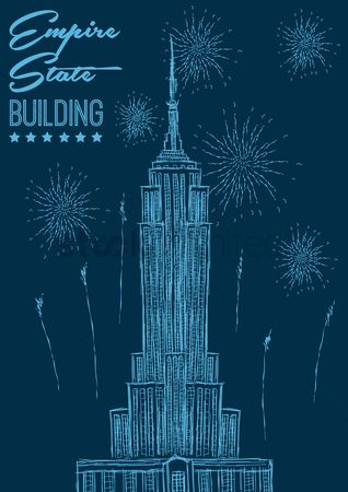 New york : Empire state building poster