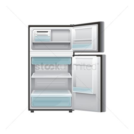 Appliance : Empty refrigerator