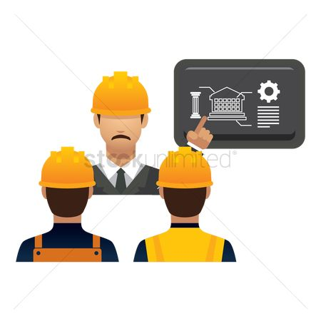 Builder : Engineer giving presentation