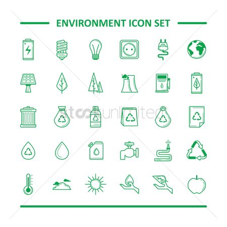 Apple : Environment icon set