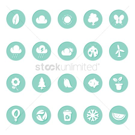 Clean : Environmental themed icons