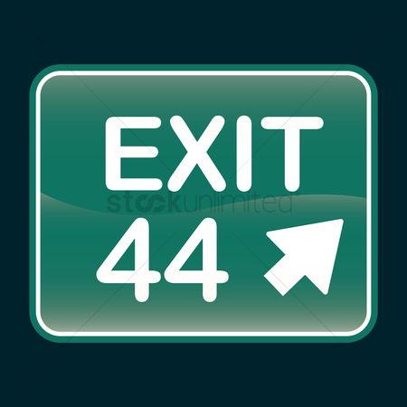 44 : Exit 44 sign