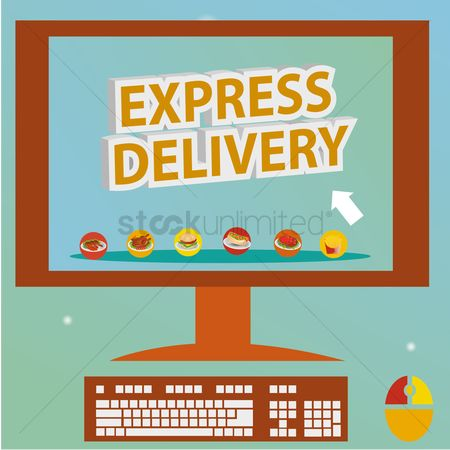 Hotdogs : Express delivery on a computer monitor