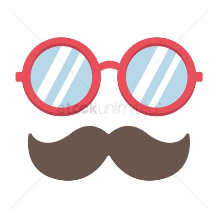 Popular : Eyeglasses and mustache