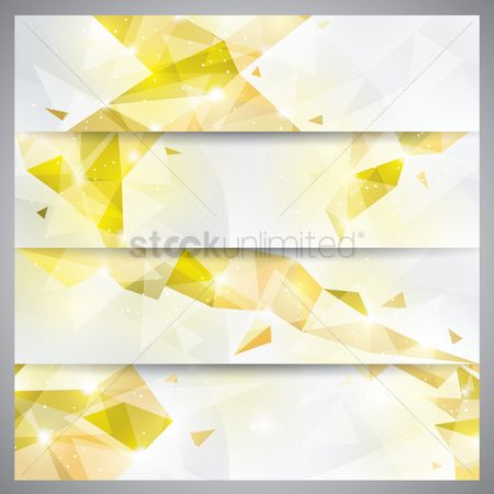 Sparkle : Faceted banner set