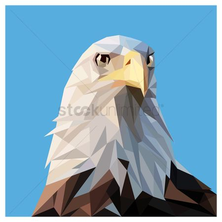 Hawks : Faceted eagle