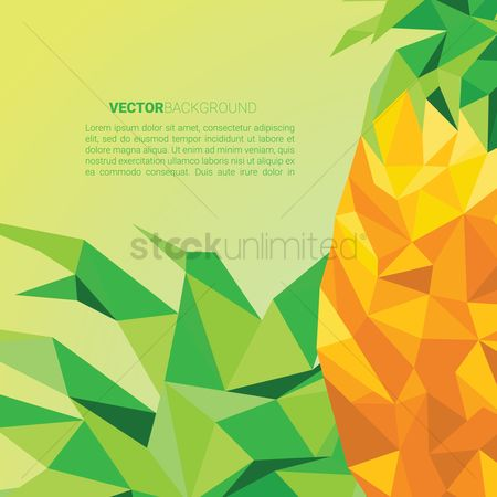 Pineapple : Faceted pineapple background