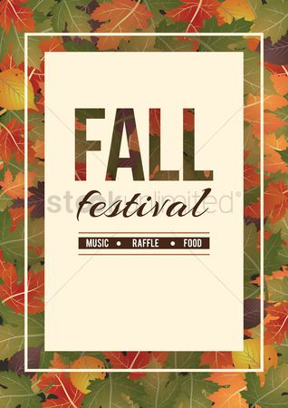 Commercials : Fall festival poster design