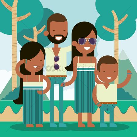Accessories : Family standing outdoors
