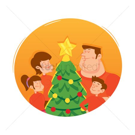 Sons : Family with christmas tree
