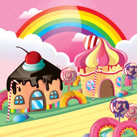 Topping : Fantasy cupcake houses