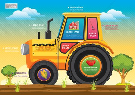 Wheats : Farm and agriculture infographic
