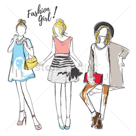 Lady : Fashion model designs