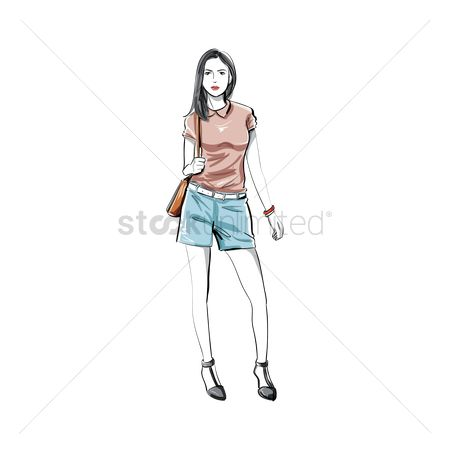 Fashions : Fashion model sketch
