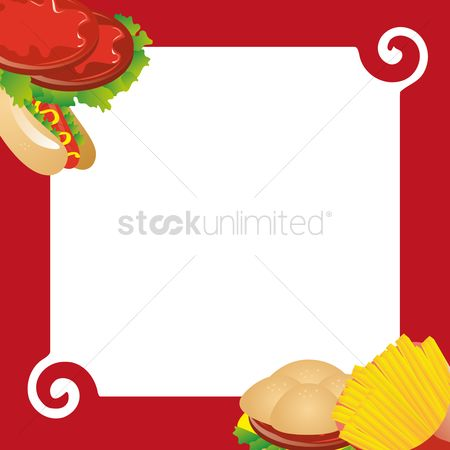 Hotdogs : Fast food frame background