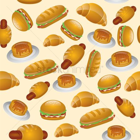 Croissant : Fast food theme background