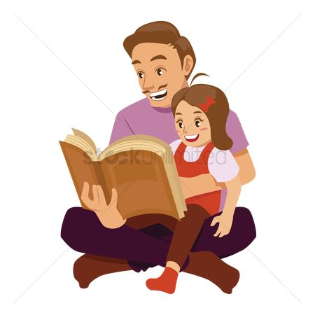 Readings : Father reading to daughter