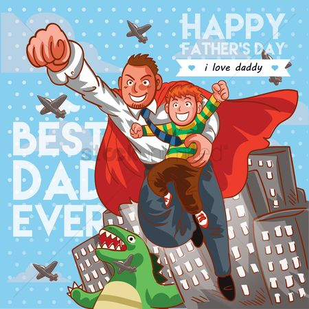 Aeroplanes : Father s day poster