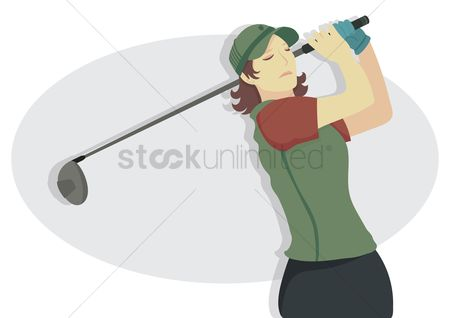 Recreation : Female golfer