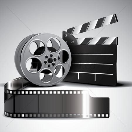 Cameras : Film reel and clapperboard