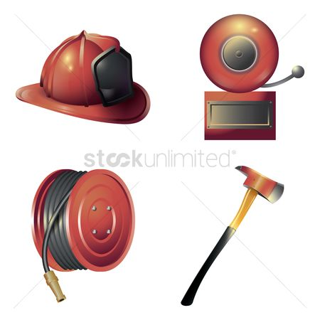 Caution : Firefighter equipment set