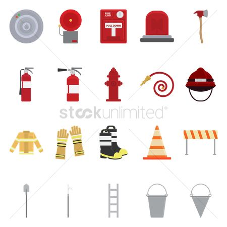 Barrier : Firefighter icons