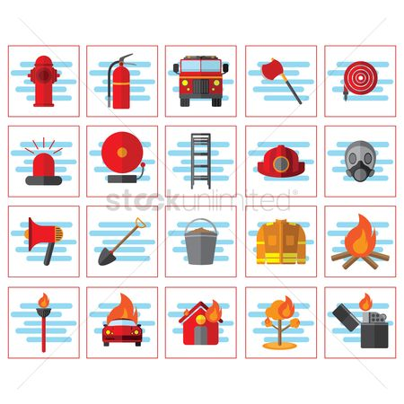Lighter : Firefighter icons
