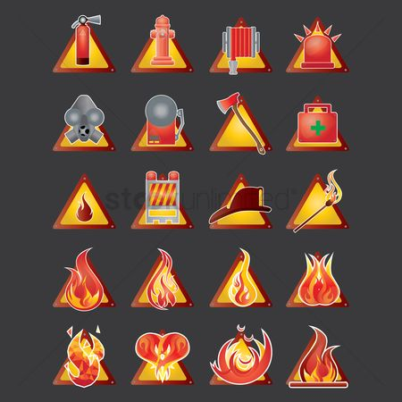 Warning : Firefighter icons