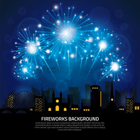 Sparkle : Fireworks background