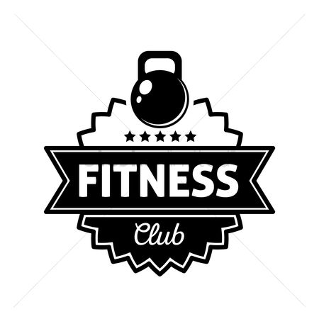 Dumb bell : Fitness club label