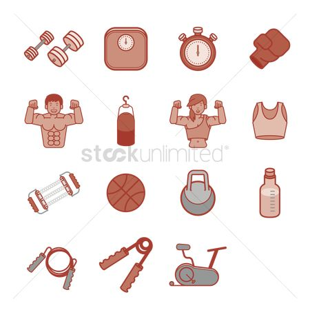 Boxing glove : Fitness icons