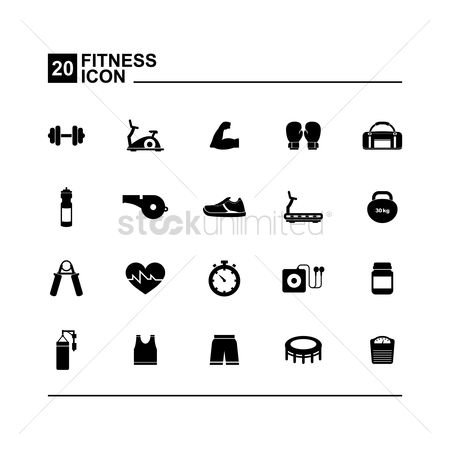 Whistle : Fitness icons