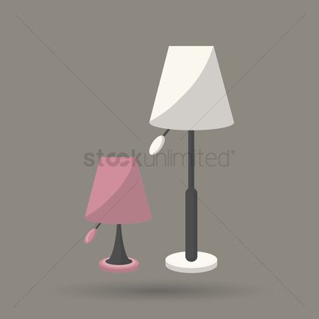 Interior : Floor and table lamp