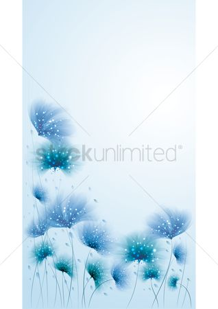 Double exposure : Floral background design