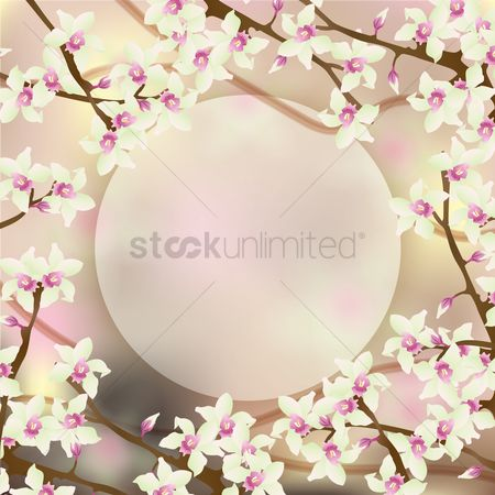 Copyspaces : Floral background
