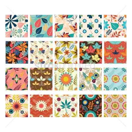 Patterns : Floral backgrounds